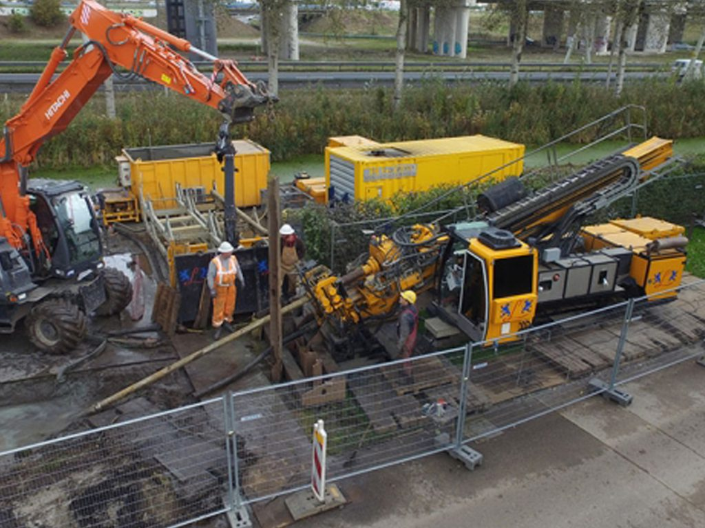 Directed Drills for telecom connection Amsterdam